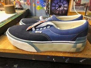 Vans Era Stacked LX Suede Canvas Navy Blue Platform Size US Women's 9 (7.5 Men)