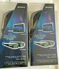 Pair Of SONY-TDG-BR100 - 3 D GLASSES- 2 BRAND NEW IN PACKAGES