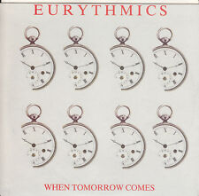 "EURYTHMICS When Tomorrow Comes PICTURE SLEEVE 7"" 45 record + jukebox title strip"