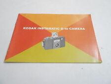 1950s/1960s CAMERA manual #2 - KODAK INSTAMATIC S-10