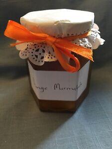12 oz jar of homemade orange marmalade simply made with fresh oranges and sugar