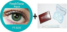 Contact Lenses Colored  FRESHTONE® Aqua Turquoise + Case + AVIZOR solution 10 ML