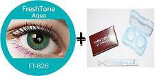 Contact Lenses Colored  FRESHTONE® Aqua Turquoise + Case + AVIZOR solution 10 ML