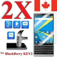 Premium Screen Protector Cover for BlackBerry KEY2 (2 PACK)