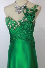 New Genuine Tony Bowls 2351236 One-Shoulder Green Formal Evening Women Gown 8