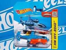 Hot Wheels 2015 Off-Road Short Card #94 Sky Knife Blue & Orange