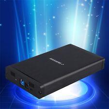 Aluminum USB 3.0 3.5 inch SATA HDD Hard Drive External Enclosure Case Box HPG