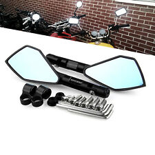 Black CNC Aluminum Universal Triangle Motorcycle Bike Rear Side Rearview Mirrors