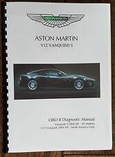 ASTON MARTIN V12 VANQUISH S (04 - 07) OBD II DIAGNOSTIC MANUAL PRINTED A4