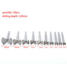 10pc 14-50mm Forstner Drill Bit Set Hole Saw Cutter Woodworking Wood Boring EB