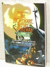 NIGHTMARE BEFORE CHRISTMAS Tim Burton's Guide PS2 Book CP65*