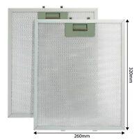 2 x Metal Oven Cooker Hood Extractor Fan Filters For Rangemaster 320 x 260mm