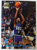 1997 97 Topps Stadium Club Ray Allen Rookie RC #R5, Rare Insert, Bucks