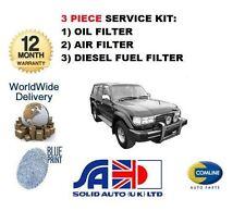 Per TOYOTA Landcruiser 80 4.2 TD 1990-1998 NUOVO servizio olio aria carburante filtro impostato