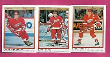 1990-91 OPC PREMIER WINGS YZERMAN + FEDYK RC + GARPENLOV RC  (INV# C4579)