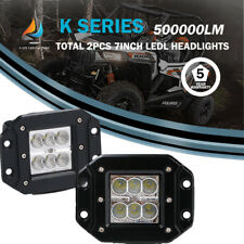 "4""IN CREE LED WORK LIGHT BAR FLOOD TRUCK DRIVING FOG LAMP ATV POLARIS RZR 4WD X2"