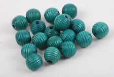 13mm Turquoise Textured Bead - 50 Count
