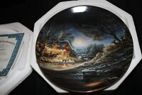 """Terry Redlin year 2000 """"Toasting Marshmallows""""  Annual Christmas Collector Plate"""