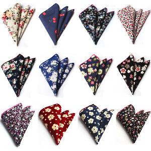 Mens High Quality Cotton Floral Paisley Pocket Square Handkerchief HZ223
