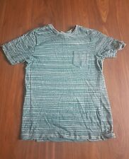 "Howlin ""MADE IN BELGIO T-shirt verde a righe taglia XL RRP £ 70 IL SIGNOR PORTER Browns"