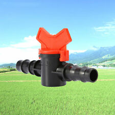 Water Hose Tube Garden Tap Drip Irrigation Barb Ball Valve ABS Plastic Connector