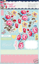 Docrafts Papermania A4 Decoupage pack Simply Floral PASTEL BLOOMS Birthday Mum