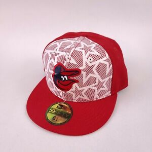 Baltimore Orioles New Era 59Fifty Fitted Hat Red / White MLB Baseball Cap 6 3/4