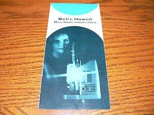 Vintage Bell & Howell 8mm Projectors Brochure~245 BAY, 256, 266, 383~EX Cond.