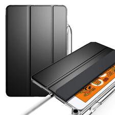 iPad Mini 5 Tablet Soft Silicone Back Case Smart Cover w/Pencil Holder Black