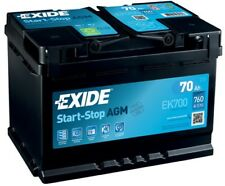 1x Exide Stop Start 70Ah 760CCA 12v 067 AGM Car Battery 4 Year Warranty - EK700