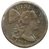 1794 S-57 Liberty Cap Large Cent Coin 1c