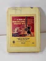 14 MORE of HANK WILLIAMS GREATEST HITS Vol. II Tested 8-Track Tape FREE SHIPPING