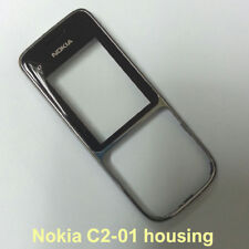 100% Genuine Nokia C2-01 Front with Screen Lens Panel Fascia Housing - Black