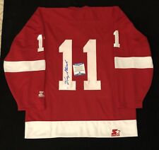 Vic Stasiuk Signed Detroit Red Wings Starter Jersey NWT Size L Beckett COA