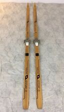 Beautiful Vintage Wooden 180 Waxless Xc Skis Clear Cap Wood Finish Vasa Canada