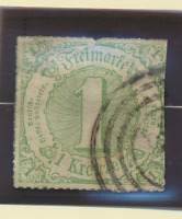 Thurn and Taxis Stamp Scott #60, Used, Hinge Remnant