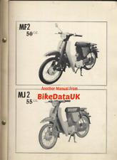Yamaha 50 55 MF2 MJ2 (1963-1967) Factory Parts List Catalogue Book MF MJ BT19