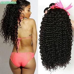 1/3/4 Bundles Kinky Curly Weave Brazilian 100% Virgin Human Hair Weft Extension