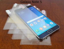 For Galaxy Note 5 Clear PET Plastic Screen Protector Guard Film SHIPS FAST