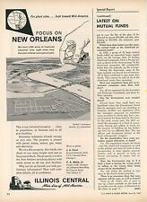 1959 Illinois Central Railroad Ad New Orleans Industrial Sites Land Sale Plants
