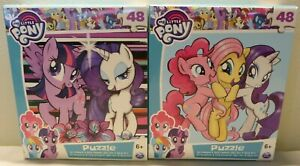 Lot of 2 - My Little Pony 48pc Puzzles - New Sealed - Hasbro - 9.1in x 10.3in