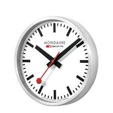 Mondaine Svizzera Ferrovie alluminio Custodia muro Orologio A990.clock.16sbb