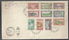 Cook Islands 1949 Captain Cook Issue on Cover Scott 131-40
