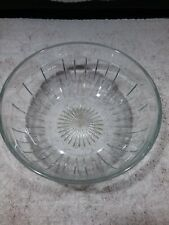 """VINTAGE 7 1/2"""" HEISEY CLEAR ROUND SERVING BOWL SIGNED"""
