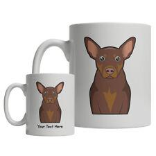 Australian Kelpie Dog Cartoon Mug - Personalized Text Coffee Tea Cup