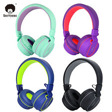 RockPapa Over Ear Adjustable Foldable Bluetooth Headphones Wireless Headsets