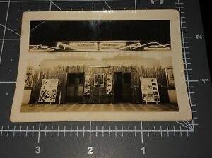 1930s Garden Theater MOVIE HOUSE Marquee POSTER Entrance Vintage Snapshot PHOTO