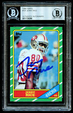 Jerry Rice #161 signed autograph auto 1986 Topps ROOKIE Card BAS Slabbed