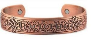 Men's 8 Inch Solid Copper Magnetic Cuff Bracelet CBM777- 5/8 of an inch wide.
