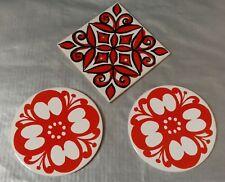 3 Dessous de plat Orange Vintage Pottery Jersey